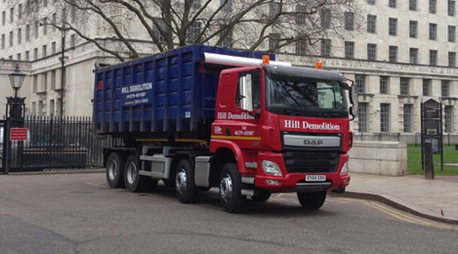 image of a Hill Metal Recycling Ltd truck
